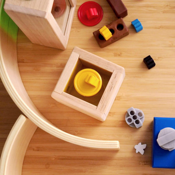 Open -ended materials with loose parts, Little Bricks, Arches and Tunnels, Treasure Blocks